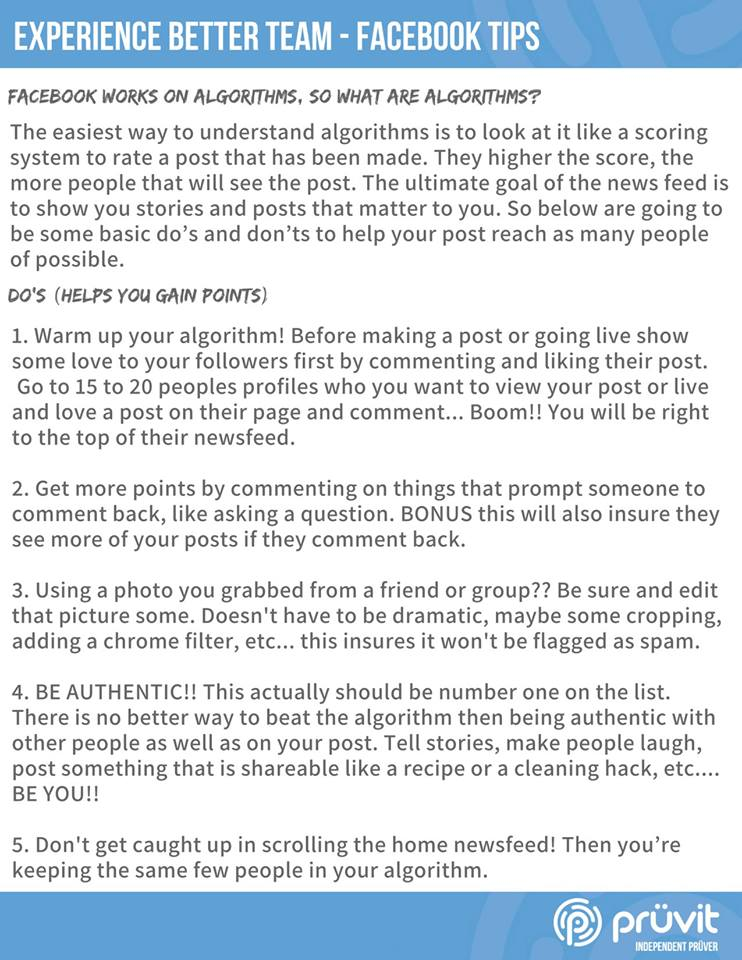 Facebook Do's and Dont's